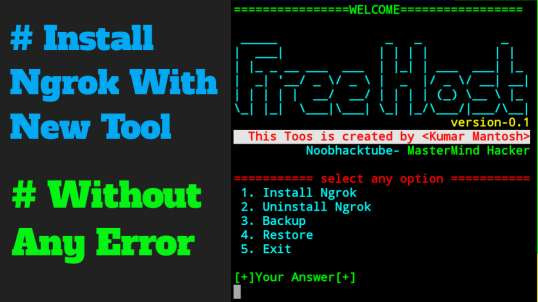 Install Ngrok easy way | by MasterMind Hacker