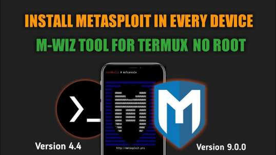 Install Metasploit In Every Android Device No Root M-wiz Tool | By Noob Hackers