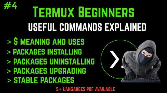 #4 Termux Beginners Tutorial Basics To Pro (No Root) | By Noob Hackers