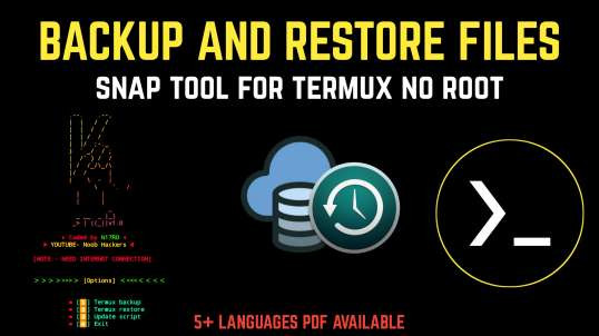 Snap Tool For Termux (No Root)| By Noob Hackers